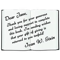 Ivan Stein's Book Editing and Publishing Crowdfunding Reward - Personal Message