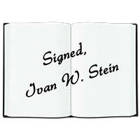 Ivan Stein's Book Editing and Publishing Crowdfunding Reward - Signed Books